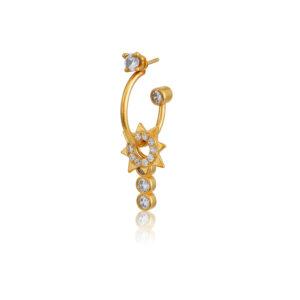 Σκουλαρίκι μονό Violeta από τη νέα μας Collection Pomp Majesty