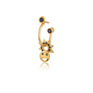 Σκουλαρίκι μονό Dahlia από τη νέα μας Collection Pomp Majesty