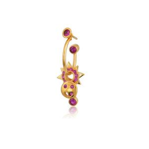 Σκουλαρίκι μονό Rose Smile από τη νέα μας Collection Pomp Majesty