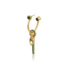 Σκουλαρίκι μονό Petal από τη νέα μας Collection Pomp Majesty