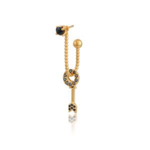 Σκουλαρίκι μονό Amaryllis από τη νέα μας Collection Pomp Majesty