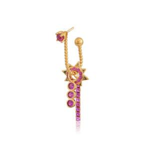 Σκουλαρίκι μονό Rose από τη νέα μας Collection Pomp Majesty