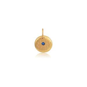 Blue Eye Circle Charm Chophie's Built Up Collection. Διαχρονικό ματάκι για να δημιουργήσεις το δικό σου μοναδικό κολίε